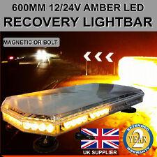 Ámbar LED recuperación Light Bar 600 Mm 12/24v intermitente baliza luz camión Luces estroboscópicas
