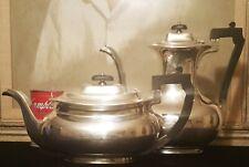 2 ART DECO john round & son silverplate coffee pot teapot antique vtg sheffield