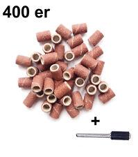100 Schleifhülsen 400er Korn 8mm Schleifrollen Schleifbänder Dremel Proxxon 100x
