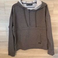 Under Armour Featherweight Fleece Hoodie Women's Sz L Loose Fit Gray