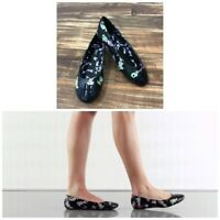 NIB Iron Fist Ladies Mermaid Black Multi color Flat Shoes Sz. 5