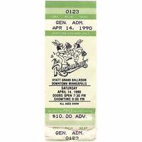 THE RADIATORS Concert Ticket Stub MINNEAPOLIS MN 4/14/90 HYATT Rare Mail Order