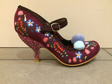 Irregular Choice 'Magical Kiss' (A) High Stiletto Heel Embroidered Shoes
