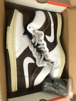 Nike Retro Vintage Court Force High 313941-112 White, Brown (Snake Skin) Sz 10.5