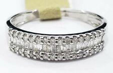 10k White Gold Baguette Right Hand Diamond Band Ring Anniversary Gift Ladies