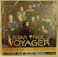 Star Trek Voyager - 2000 Wall Calendar  - Sealed Collectable Starfeet Sci-Fi