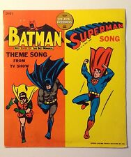 Batman TV Theme & Superman Song 1966 45 RPM Golden Record 2101 Vinyl Album LP