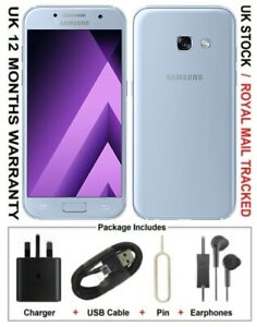 Samsung Galaxy A3 (2017) 16GB - Blue (Unlocked) Smartphone UK Version