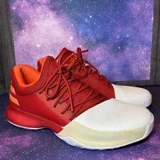 Adidas James Harden Vol 1 Basketball Shoe White Red BW0547 Size 8