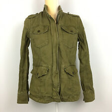 Abercrombie & Fitch Womens Military Utility Field Jacket Army Green Size Small