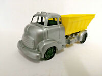 E** 1960's Old shop stock Tudor Rose Plastic polythene dumper truck lorry YELLOW