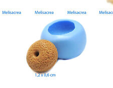 Moule silicone mini donut texturé 1cm pr pâte fimo, porcelaine, plâtre, résine..
