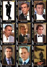 James Bond Movie Trading cards series 1 007 Connery Moore Dalton Brosnon Craig