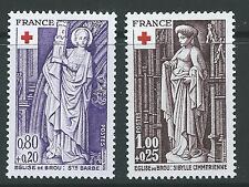 FRANCE 1976 RED CROSS SG 2146-47 SET 2 MNH.