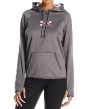 NWT Under Armour Caliber Women's Hoodie  gray  Power in Pink  M 1286058-090