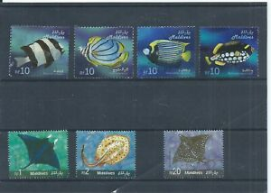 Maldives stamps.  2006 Fish used & 3 of the Rays.  (P204)