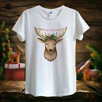 Merry Christmas Deer, NEW YEAR magic mood 2019 T-shirt unisex women fitted gift