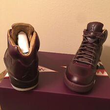 Air Jordan 5 Retro Burgundy BORDEAUX 881432 612 Premium LUX Pinnacle Nike Size 9