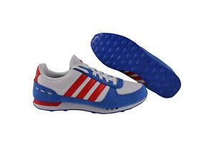 Adidas Neo City Racer weiß/blau/rot Sneaker/Schuhe
