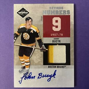 2011-2012 Panini Limited Johnny Bucyk Retired Numbers Patch/Auto 10/10