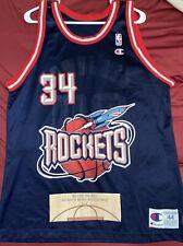 VTG Houston Rockets Hakeem Olajuwon 34 Basketball Champion Jersey Size 44 VNDS!