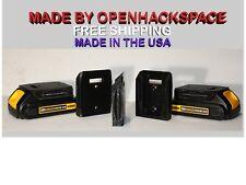 Lot of 4 Dewalt 20v Battery Mount Holder -- Stealth / Dust Cover / Made in USA