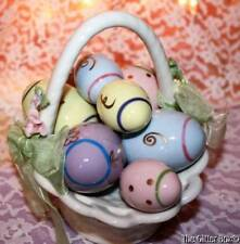"Easter Music Box Basket  Of Eggs Cosmos ""These Are A Few Of My Favorite Things"""