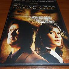 The DaVinci Code (DVD, 2006, 2-Disc Full Frame) NEW Tom Hanks Da Vinci