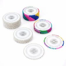 Lots Round Pearl Head Craft Dress Make Patchwork Straight Sewing Needle Pins Kit