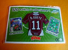11 B. GUEYE FC METZ LORRAINE GRENATS FOOTBALL JUST FOOT MAGNETS 2008 PANINI