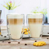 2er Set Thermo Doppelwandige Latte Macchiatio Tee Gläser Milchkaffee