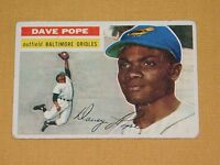 VINTAGE OLD 1950S BASEBALL 1956 TOPPS CARD DAVE POPE BALTIMORE ORIOLES