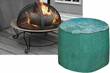 More details for large firepit cover green round outdoor waterproof protector heavy duty 84x50cm