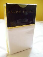 RALPH LAUREN BENGAL STANDARD PILLOWCASES YELLOW/WHITE STRIPE NIP $130