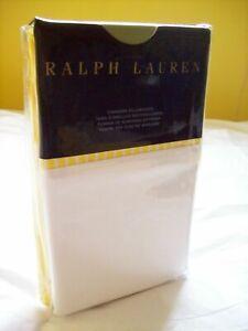 New Ralph Lauren Bengal Stripe Slicker Yellow Watch Hill White Cuff Pillowcases