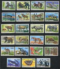 Cook Islands MNH Endangered Wildlife 1992. Tiger, Asiatic Elephant, Grizz x17519
