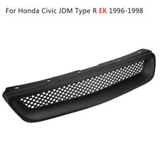 ABS Front Bumper Hood Grilles Grill Mesh For Honda Civic JDM Type R EK 1996-1998