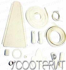 Vespa Vbb Vba Vbc Vna Vnb VL 150 125 Super Sprint White Complete Rubber Kit