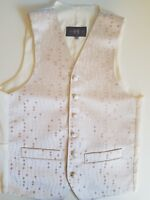 mens ivory rose gold bubble print WAISTCOAT occasion WEDDING all sizes FREE POST