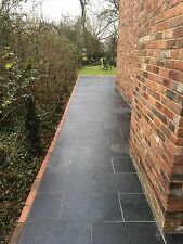 Black Slate Paving✔  Patio Slabs Garden ✔5m2 600x300mm 20mm Thick calibrat✔