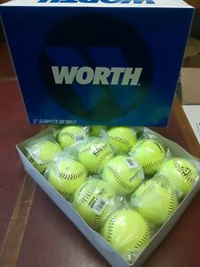 "Worth 47/525 Protac Super Blue Dot Slowpitch Homerun Derby Softball-12""  1 Dozen"
