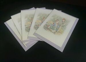 Peter Rabbit Beatrix Potter notelets + envs 20 pack, folded to A6 blank gift
