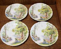 Shelley Bone China 4 Woodland Plates