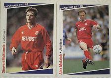 13 x ABERDEEN SHOOTING STARS Cards - MERLIN Publishing Ltd 1991/2 FOOTBALL CARDS