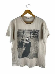 VINTAGE Bruce Springsteen Concert T Shirt Men Sze L Grey 2013 Wrecking Ball Tour
