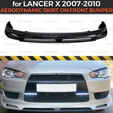 Aerodynamic Skirt On Front Bumper for Mitsubishi Lancer X 2007-2015  ABS plastic