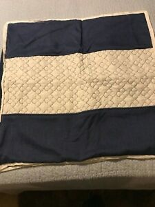 Martha Stewart Collection Quilted Chambray European Sham SET of 2
