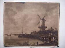 dessin ancien noir-blanc Draeger impressions d'art papier glacé vieilli 20x24 cm