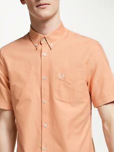 New Men Fred Perry Short Sleeve Classic Oxford Shirt ORIGINAL M3531 G05 NWT