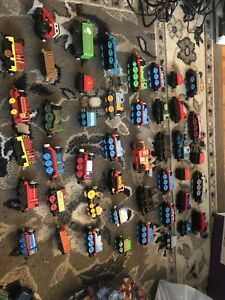 Lot Of 47 Vintage Thomas The Train & Friends Diecast Metal Magnetic Trains